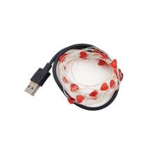 ریسه ال ای دی طرح قلب USB طول ۲ متر